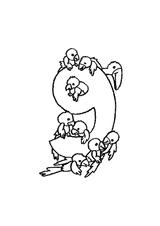 Imprimer le coloriage : Chiffre 9, numéro 394813