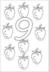 Imprimer le coloriage : Chiffre 9, numéro 394824
