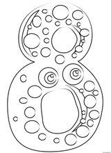 Imprimer le coloriage : Chiffre 9, numéro 8bd99b9