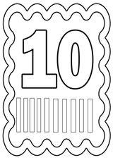 Imprimer le coloriage : Nombre 10, numéro 519909