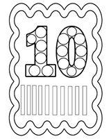 Imprimer le coloriage : Nombre 10, numéro 6807a6fb