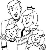 Imprimer le coloriage : Fête des mères, numéro 124841
