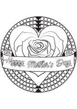 Imprimer le coloriage : Fête des mères, numéro 2446369
