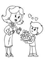 Imprimer le coloriage : Fête des mères numéro 293258