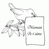 Imprimer le coloriage : Fête des mères, numéro 58307
