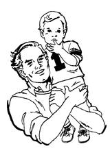 Imprimer le coloriage : Fête des pères, numéro 297156