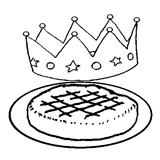 Imprimer le coloriage : Galette des Rois, numéro 113455