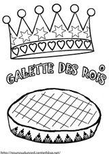 Imprimer le coloriage : Galette des Rois, numéro 445054