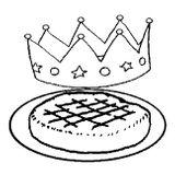 Imprimer le coloriage : Galette des Rois, numéro 5497