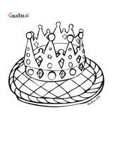 Imprimer le coloriage : Galette des Rois, numéro 61536
