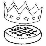 Imprimer le coloriage : Galette des Rois, numéro 759816