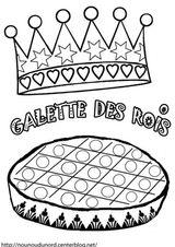 Imprimer le coloriage : Galette des Rois, numéro b918a77c