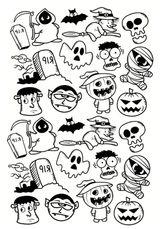 Imprimer le coloriage : Halloween, numéro 21c05b58
