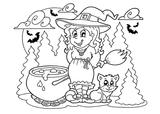 Imprimer le coloriage : Halloween, numéro 41f46ff9