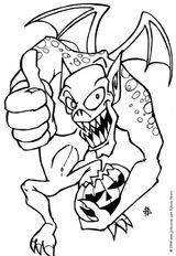 Imprimer le coloriage : Halloween, numéro 84031