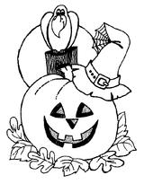 Imprimer le coloriage : Citrouille, numéro 28939