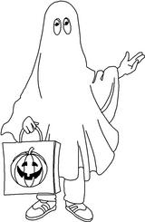 Imprimer le coloriage : Fantôme numéro 28949