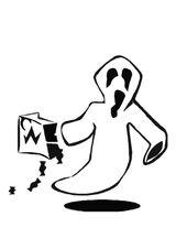 Imprimer le coloriage : Fantôme numéro 28950