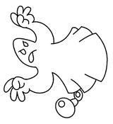 Imprimer le coloriage : Fantôme, numéro 29600