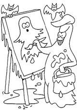 Imprimer le coloriage : Fantôme, numéro 44686
