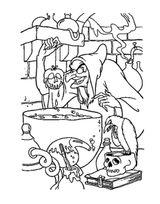 Imprimer le coloriage : Sorcière, numéro 28c995a1