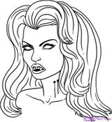 Imprimer le coloriage : Vampire, numéro 28994