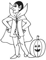 Imprimer le coloriage : Vampire, numéro 29014