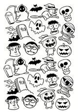 Imprimer le coloriage : Halloween, numéro afae48ba
