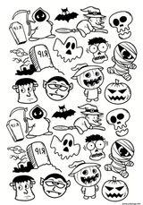 Imprimer le coloriage : Halloween, numéro f7ce10a3