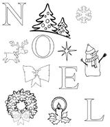 Imprimer le coloriage : Noël, numéro 8e72a2ed
