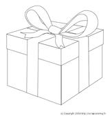 Imprimer le coloriage : Cadeau de Noël, numéro 44613