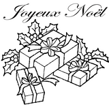 Imprimer le coloriage : Cadeau de Noël, numéro 44806