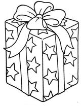 Imprimer le coloriage : Cadeau de Noël, numéro 57242