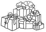 Imprimer le coloriage : Cadeau de Noël, numéro 57dda569
