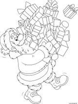 Imprimer le coloriage : Cadeau de Noël, numéro 6b458904