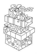 Imprimer le coloriage : Cadeau de Noël, numéro 760382