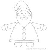 Imprimer le coloriage : Père Noël, numéro 44535
