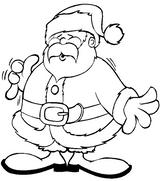 Imprimer le coloriage : Père Noël, numéro 44536