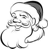 Imprimer le coloriage : Père Noël, numéro 44537