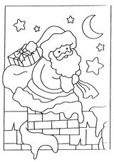 Imprimer le coloriage : Père Noël, numéro 44539