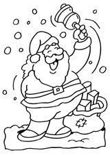 Imprimer le coloriage : Père Noël, numéro 44551