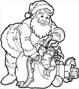 Imprimer le coloriage : Père Noël, numéro 44552