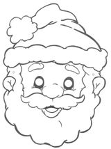 Imprimer le coloriage : Père Noël, numéro 44553