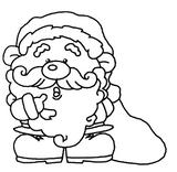 Imprimer le coloriage : Père Noël, numéro 44753