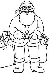 Imprimer le coloriage : Père Noël, numéro 44765
