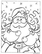 Imprimer le coloriage : Père Noël, numéro 520107
