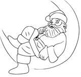 Imprimer le coloriage : Père Noël, numéro 7012a949