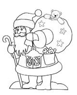 Imprimer le coloriage : Père Noël, numéro 760376