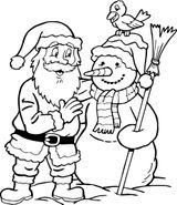 Imprimer le coloriage : Père Noël, numéro 884fdb55