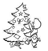 Imprimer le coloriage : Sapin de Noël, numéro 44575